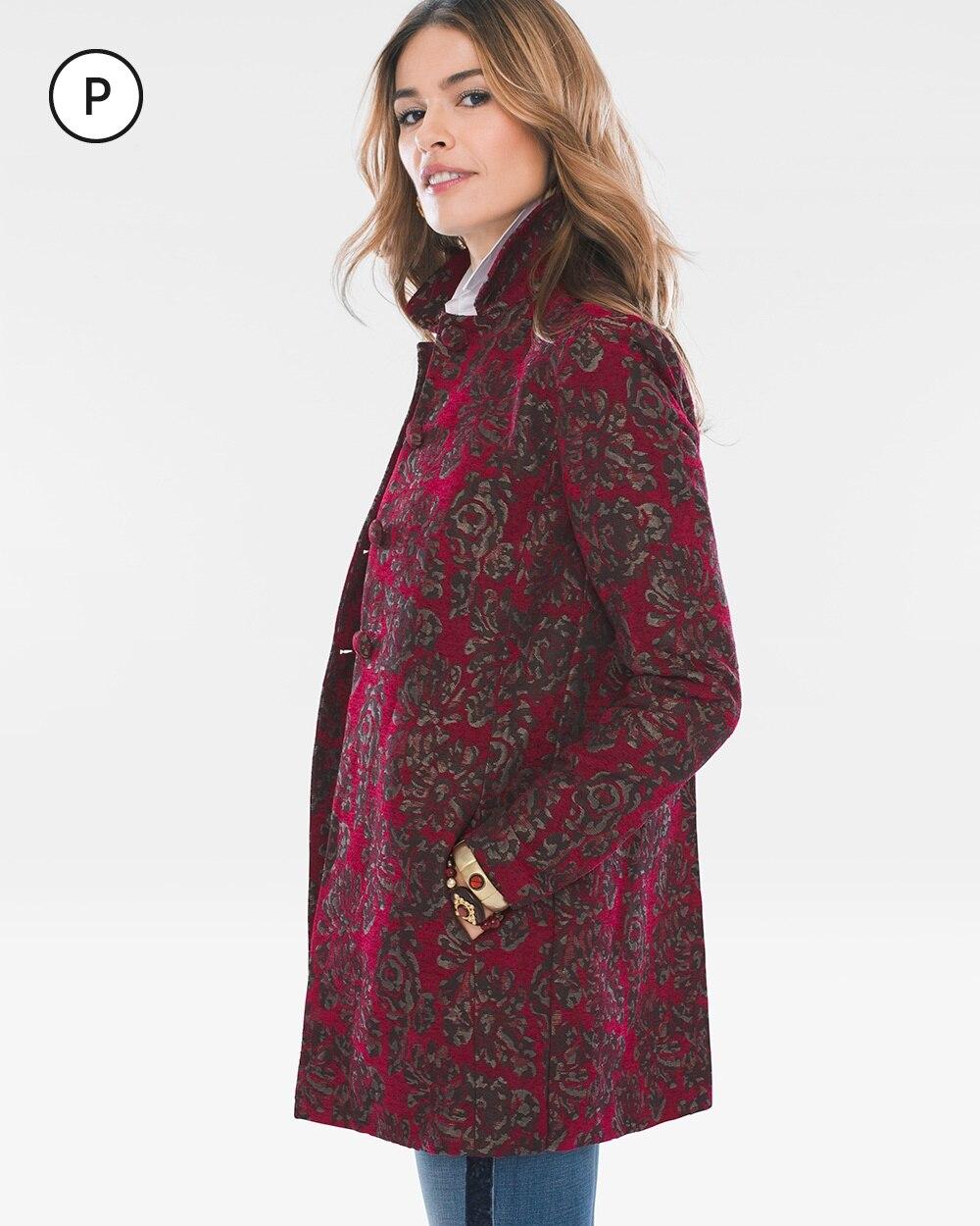 Petite Floral Jacquard Jacket