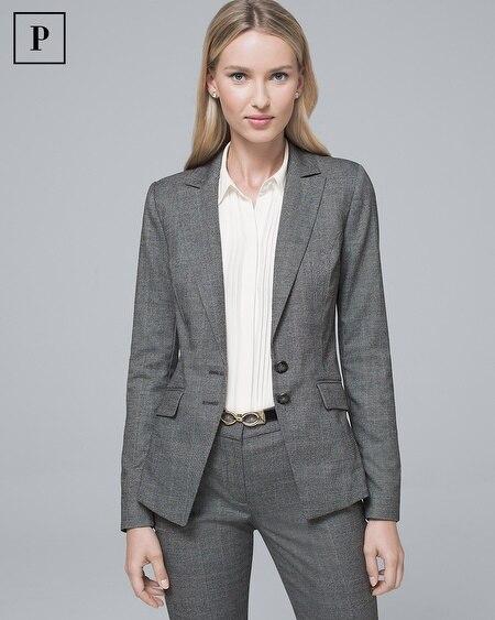 Petite Plaid Suiting Jacket