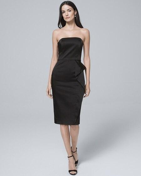 b5d481dede0 Strapless Metallic Lace Sheath Dress - White House Black Market