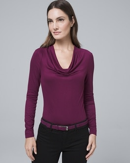 Draped Neck Jersey Top by Whbm