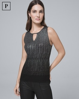 Petite Shimmer Ombre Sweater Shell by Whbm