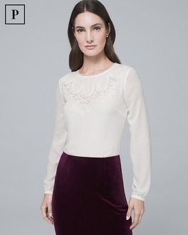 Petite Embroidered Blouse by Whbm