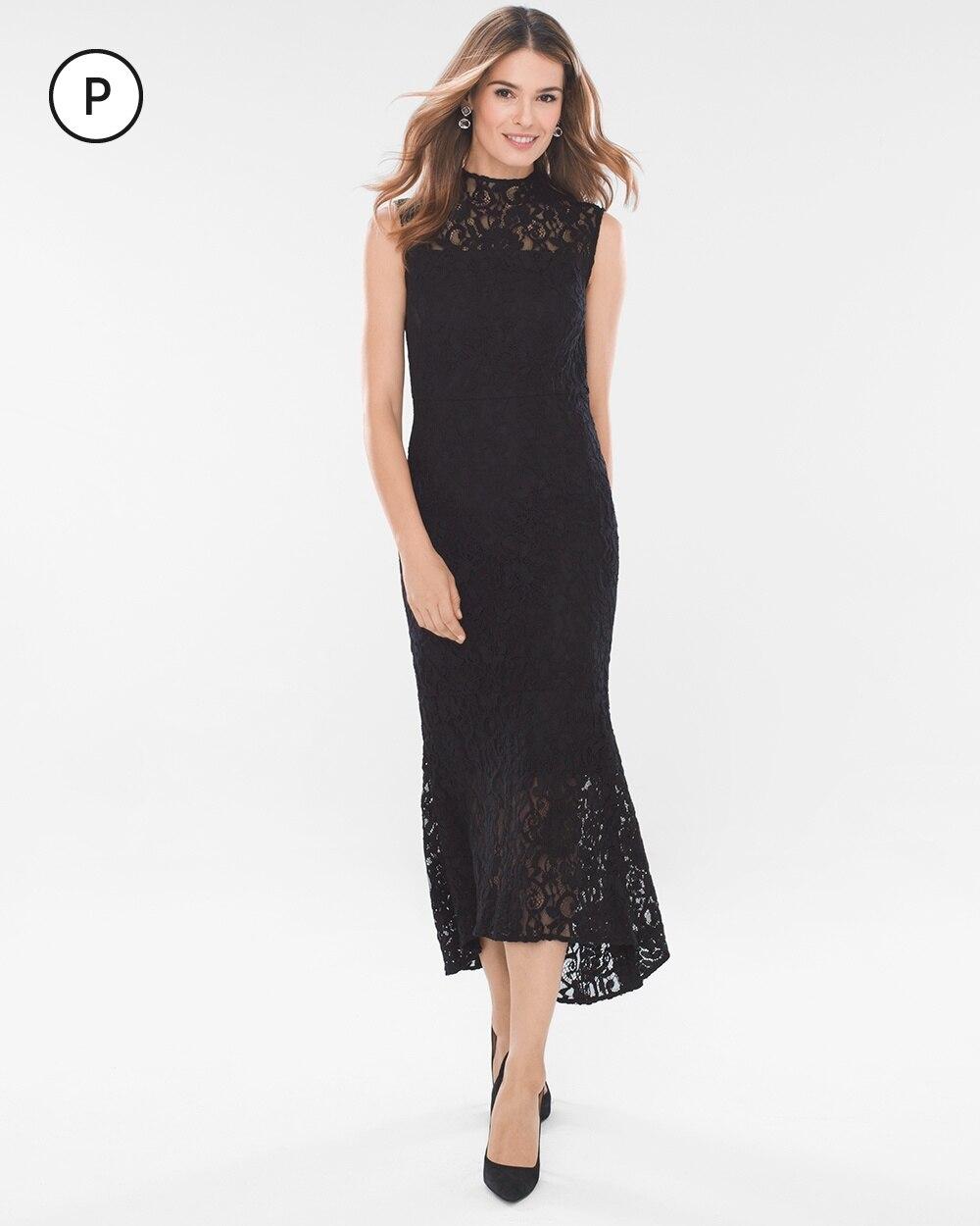 Petite Lace Midi Dress