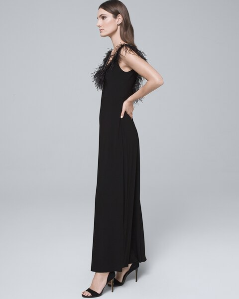 64c38975b166 Return to thumbnail image selection Feather-Trim Black Gown
