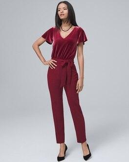 Velvet-Bodice Jumpsuit | Tuggl