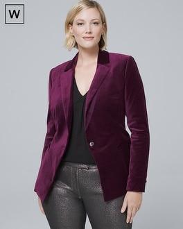 Plus Velvet Jacket by Whbm
