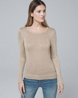 Metallic Detail Sweater by Whbm