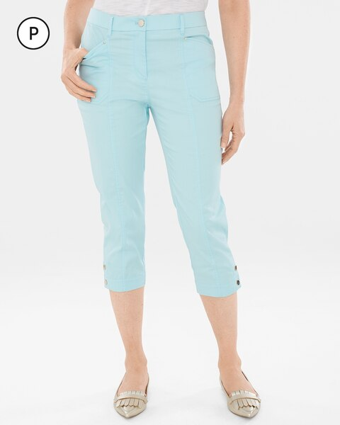 Secret Stretch Petite Luxe Utility Slim Capris