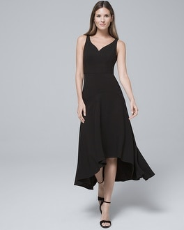 Black High-Low Fit-and-Flare Dress | Tuggl