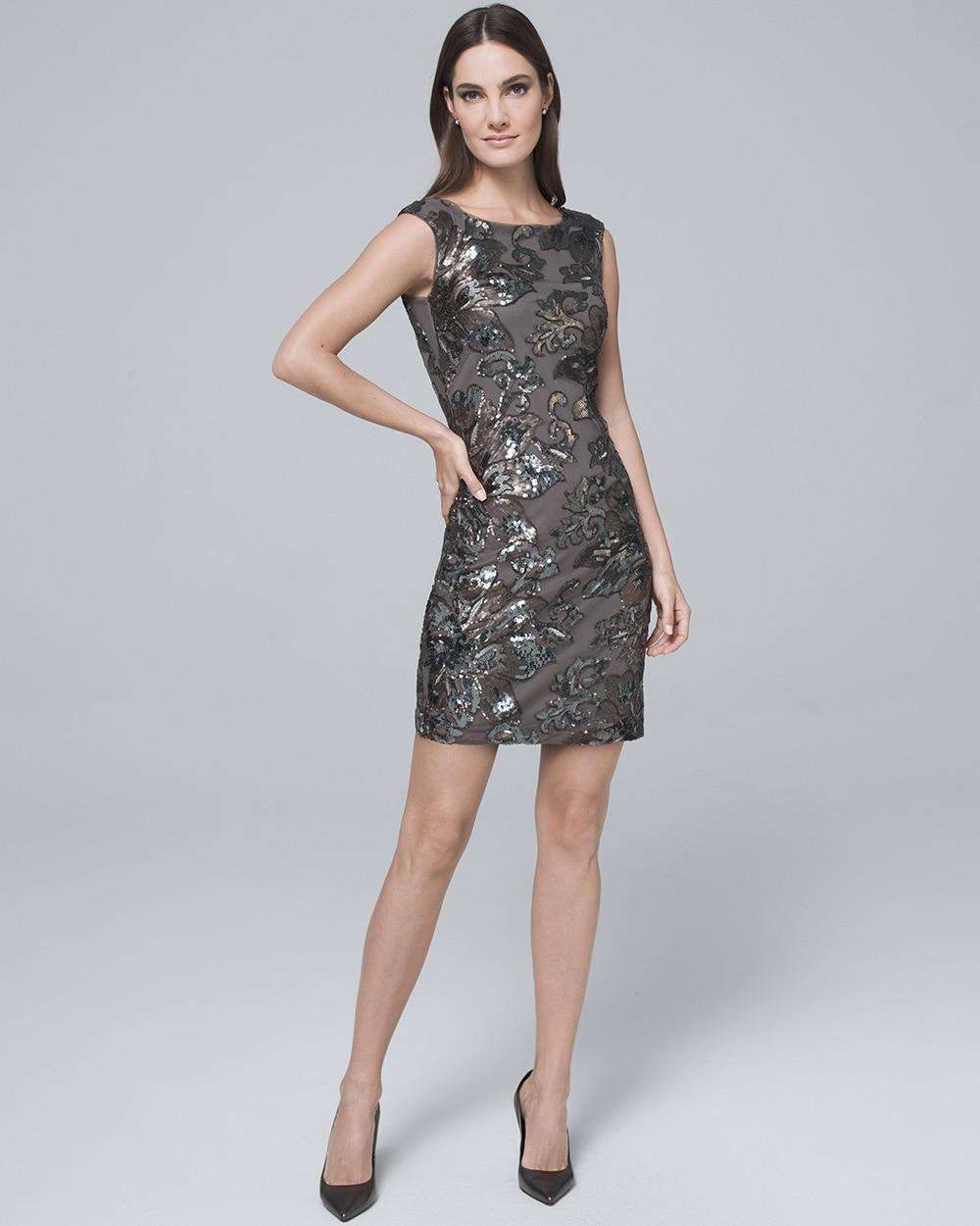 e87cdfc22c7 Sequin-Detail Shift Dress - White House Black Market