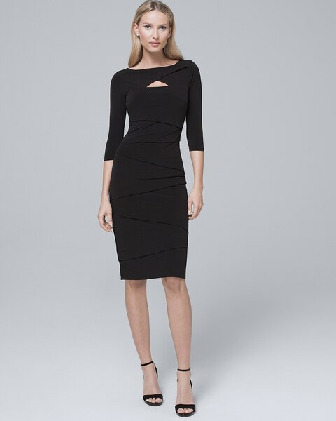 f7978dbc4ee48 570248754. Video. Zoom. Cutout-Detail Black Instantly Slimming Sheath Dress