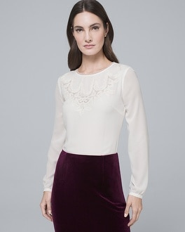 Embroidered Blouse by Whbm