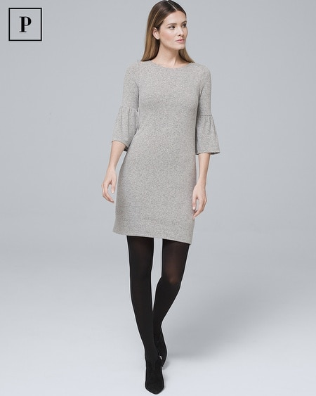 Petite Bow-Back Sweater Knit Shift Dress