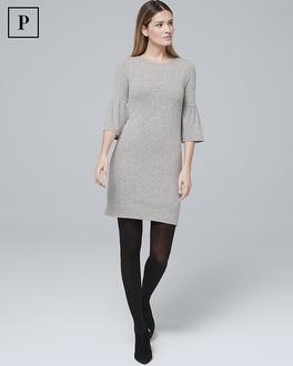 Petite Bow Back Sweater Knit Shift Dress by Whbm