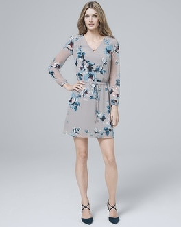 Soft Floral-Print Blouson Dress | Tuggl