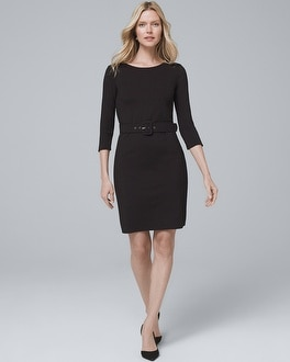 Belted Black Knit Dress by Whbm