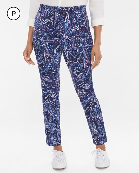 So Slimming Petite Juliet Medallion-Print Ankle Pants
