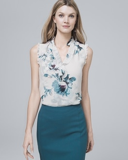 Floral Print Shell by Whbm