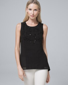 002bcc8e323 Tops. SALE. White House | Black Market. Embellished Pleat-Front Shell