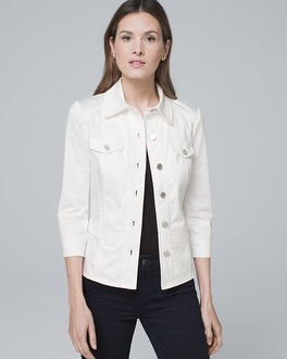 Button Front Casual Jacket by Whbm