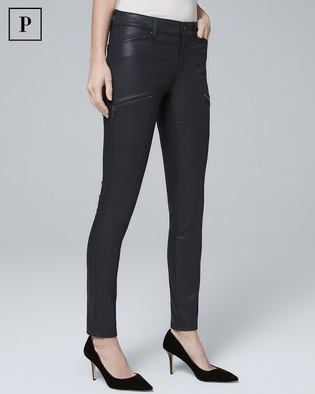 Petite Mid-Rise Coated Skinny Jeans
