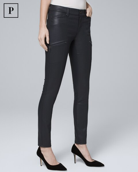 920716006a9f Petite Mid-Rise Coated Skinny Jeans - White House Black Market