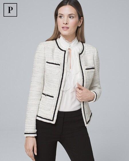 Petite Tweed Sweater Jacket