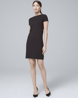 Tie Back Black Knit Shift Dress by Whbm