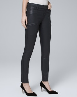 Mid Rise Coated Skinny Jeans by Whbm