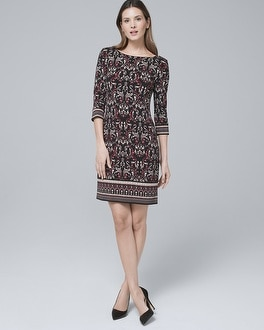 Ultimate Reversible Arabesque Print/Solid Shift Dress by Whbm