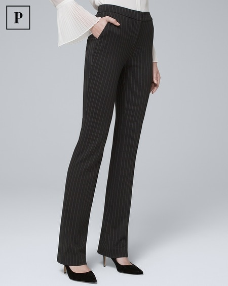 Petite Pinstripe Knit Slim Pants