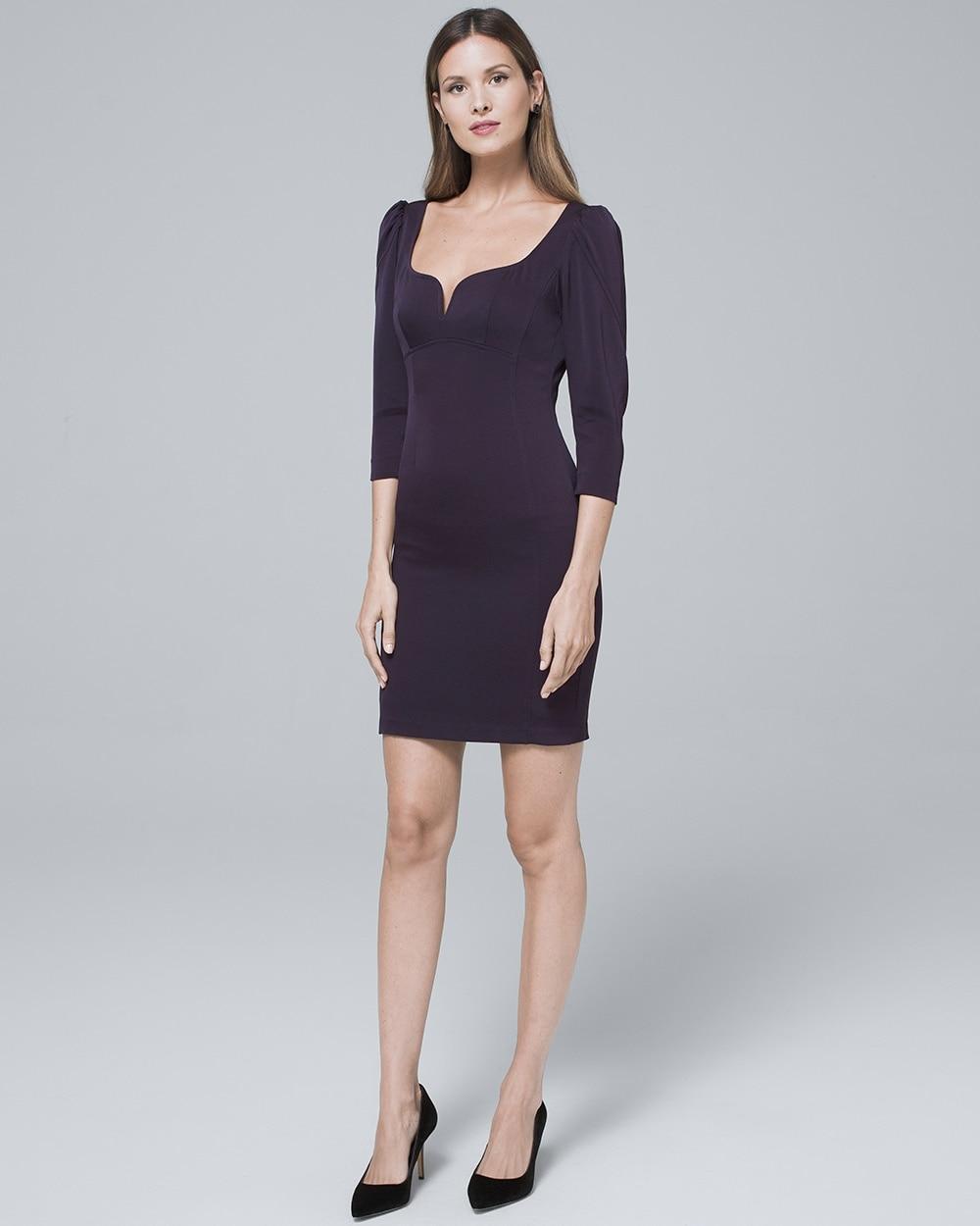 Plunge Neckline Sheath Dress White House Black Market