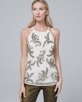Embellished Leaf Tank by Whbm