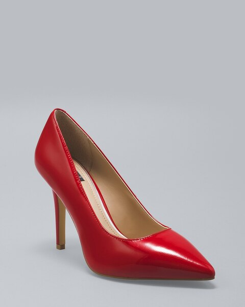 Olivia Patent Leather Pumps - White