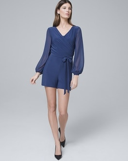 Surplice Knit Romper by Whbm