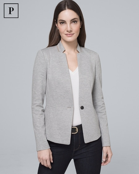 Petite Ball-Chain Blazer Jacket
