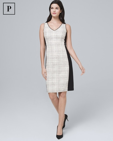 Petite Tweed Sheath Dress