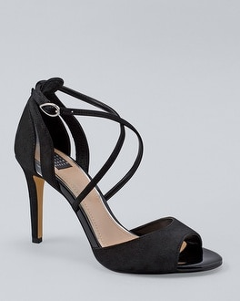 Suede & Pvc Strappy High Heels by Whbm