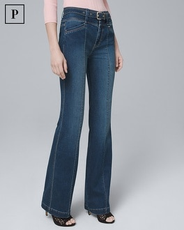 Petite High Rise Trouser Jeans by Whbm