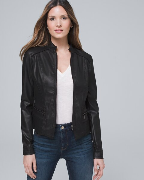 forefront of the times most fashionable top-rated quality Coated Denim Jacket