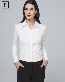 Petite Grosgrain Detail Shirt by Whbm
