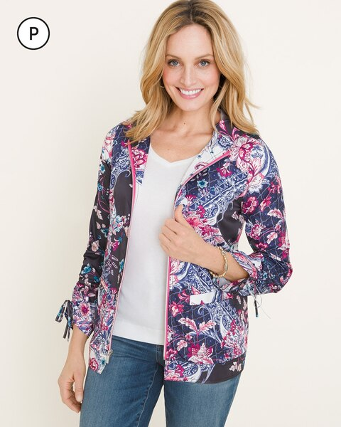 Zenergy Petite Packable Paisley Jacket