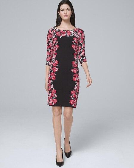 2474cc5261 ... Reversible Fl Border Solid Knit Sheath Dress. Dresses For Women White  House Black Market