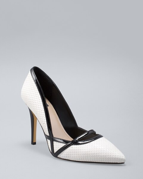 Snake Cut High Heel Pumps by Whbm