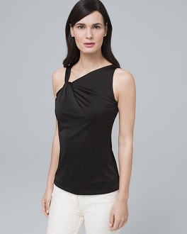 Asymmetric Neckline Top by Whbm