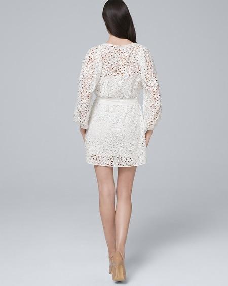 c29e4a6cb00 ML Monique Lhuillier White Lace Blouson Dress