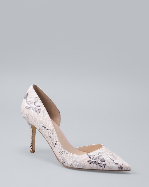 68706e91d166 Ella Snake-Embossed Leather Pumps - White House Black Market