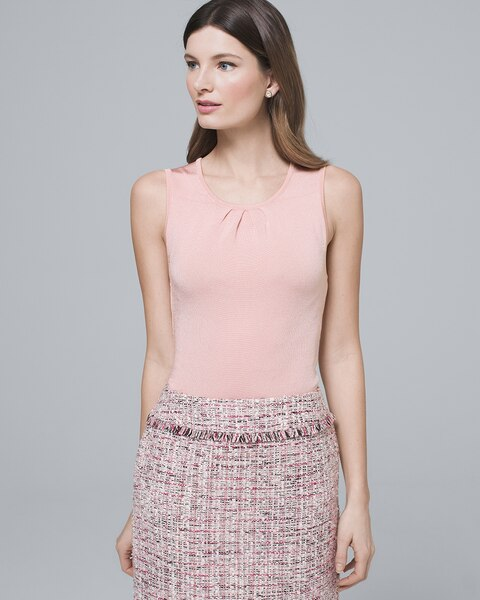Pleated Neck Sweater Tank by Whbm