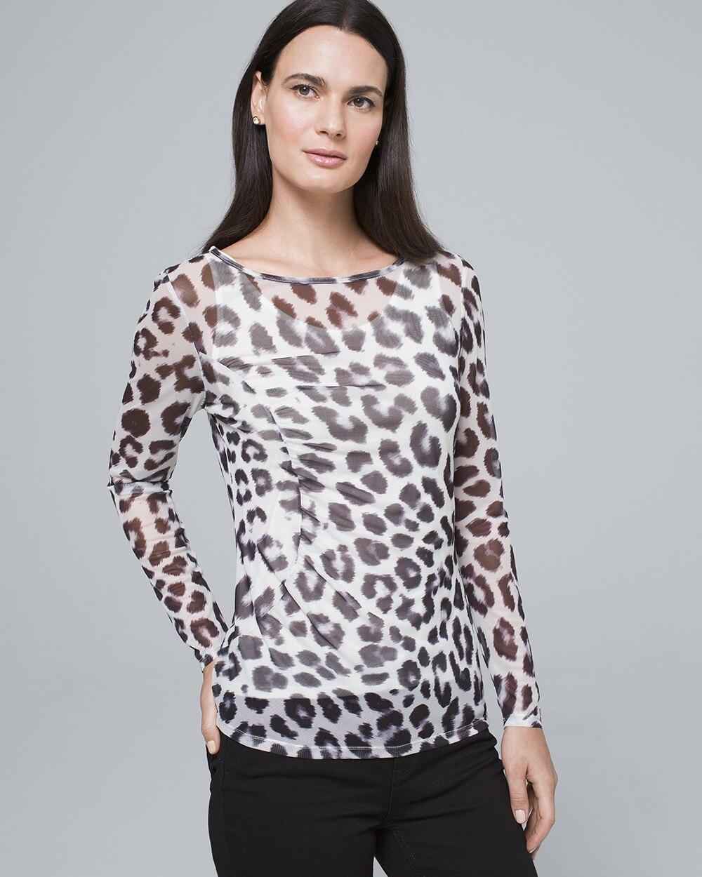 3da18d972072 Leopard-Print Mesh Top - White House Black Market