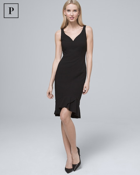 Petite Body Perfecting Flounce Hem Sheath Dress by Whbm